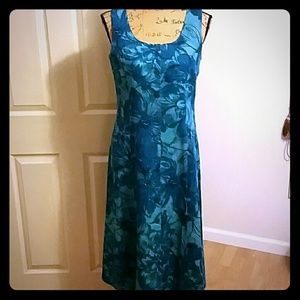 Very beautiful linen turquoise summer dress!!